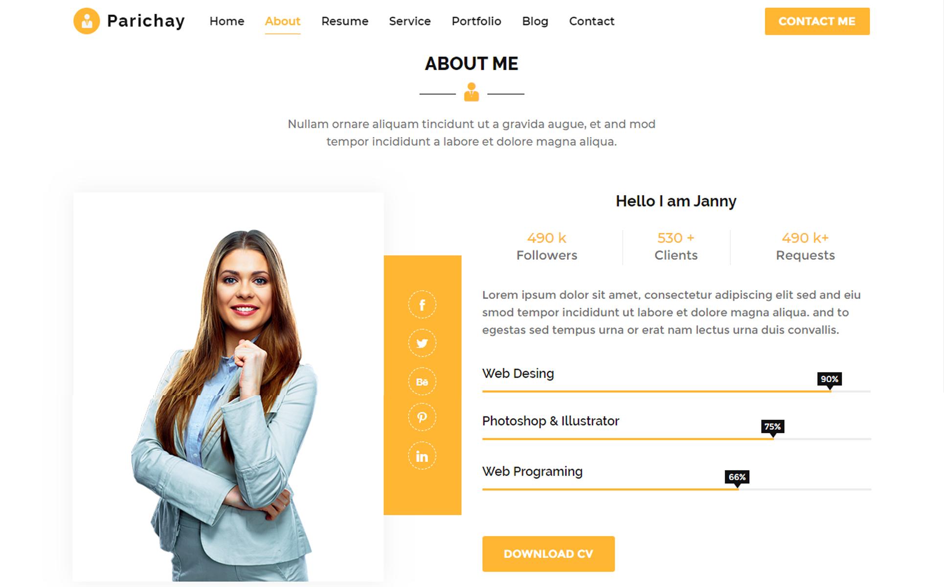 Parichay Portfolio Landing Page Template