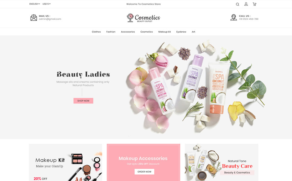 Cosmetics - Beauty Store PrestaShop Theme