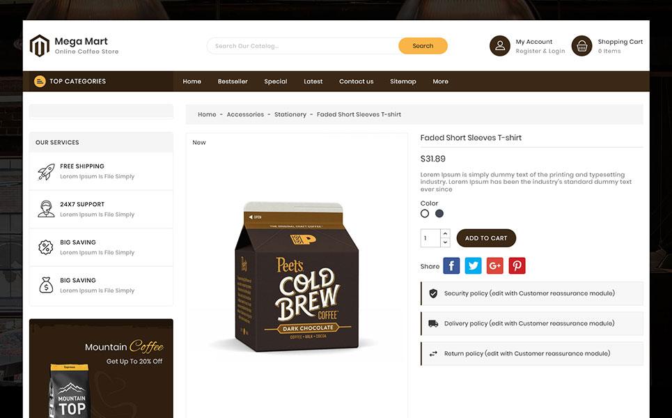 MegaMart - Coffee Store PrestaShop Theme