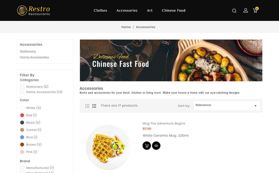 Restro Restaurant Responsive PrestaShop Theme