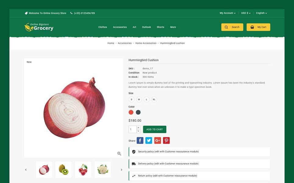 Online Bigstore Grocery PrestaShop Theme