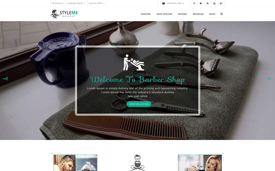 Styleme - Barber shop PrestaShop Theme