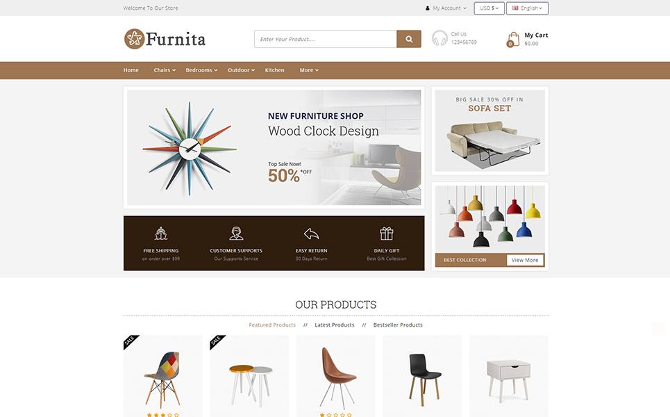 Furnita - Furniture Store OpenCart Template