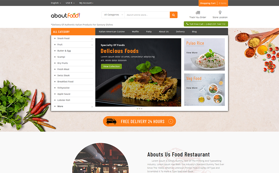 About Food - Online Food Store PrestaShop Theme