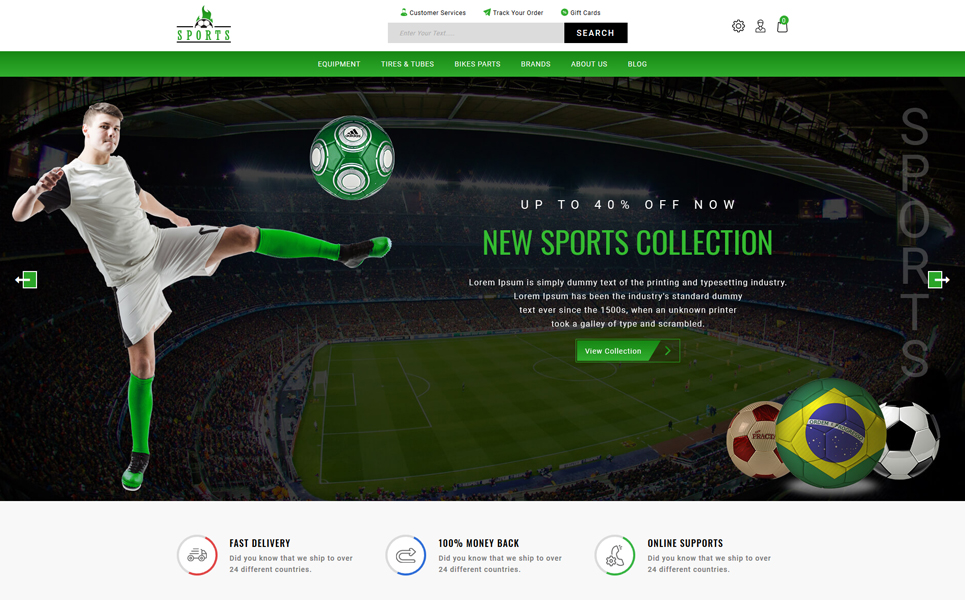 Online Sports Store PrestaShop Theme