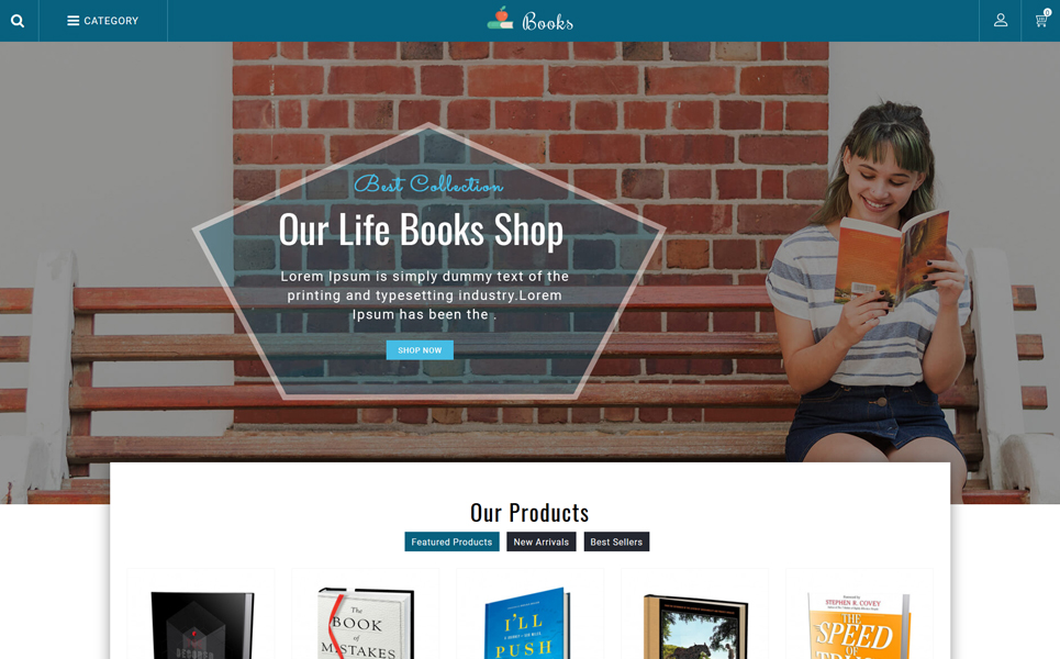 Books Sales Store PrestaShop Theme