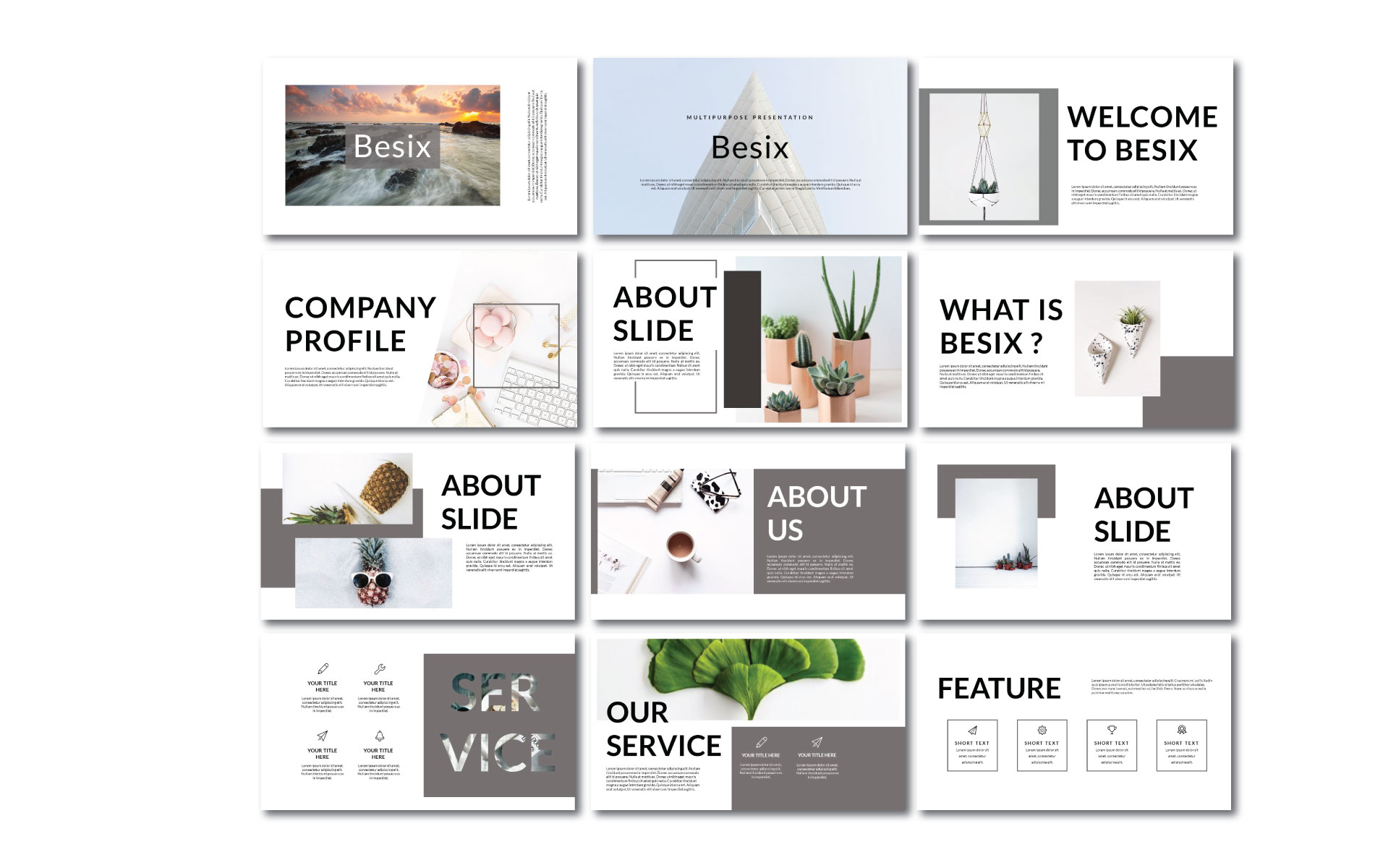 Besix Presentation PowerPoint Template