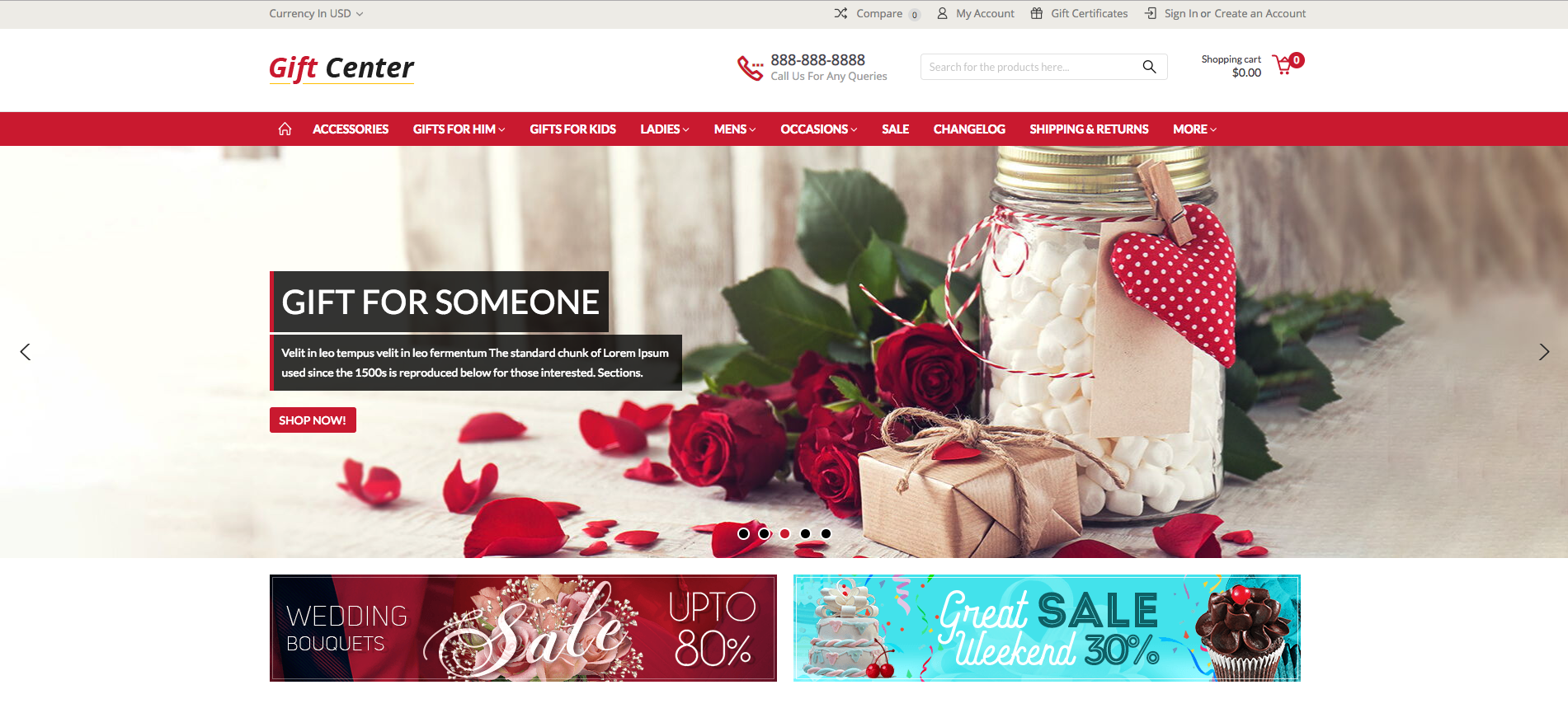 GiftCenter Multipurpose BigCommerce Theme