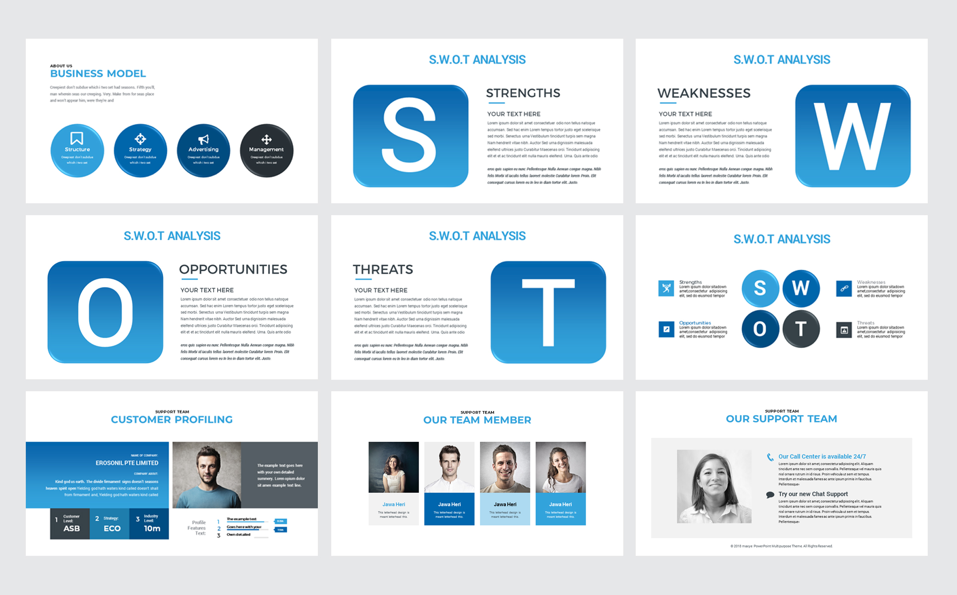 Canva Multipurpose Presentation Powerpoint Template