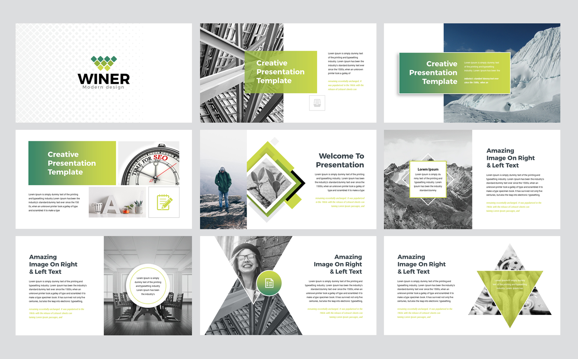 Winer PowerPoint Template