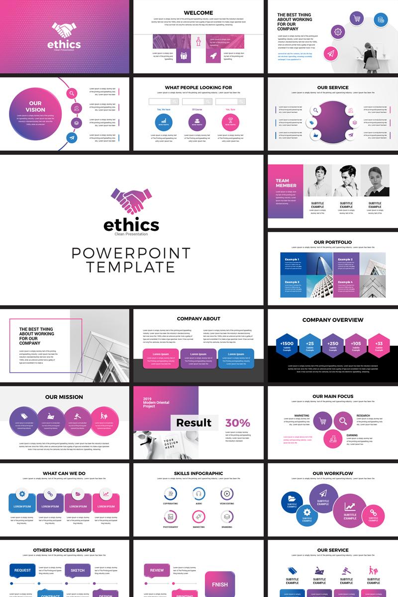 Ethics Modern Business Powerpoint Template