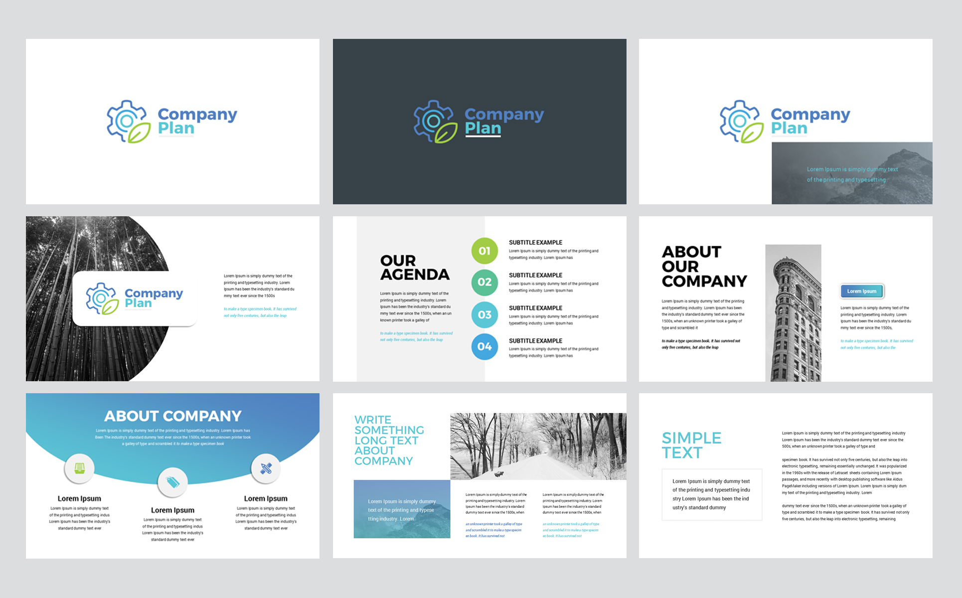 Company Plan - PowerPoint Template