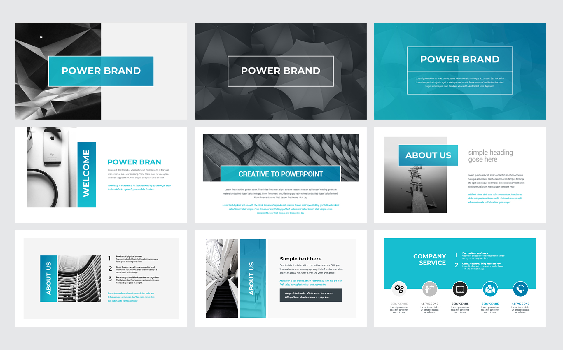 Power Brand Keynote Template
