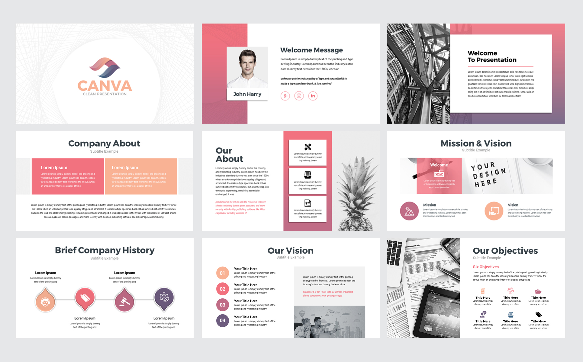 Canva Business Presentation PowerPoint Template