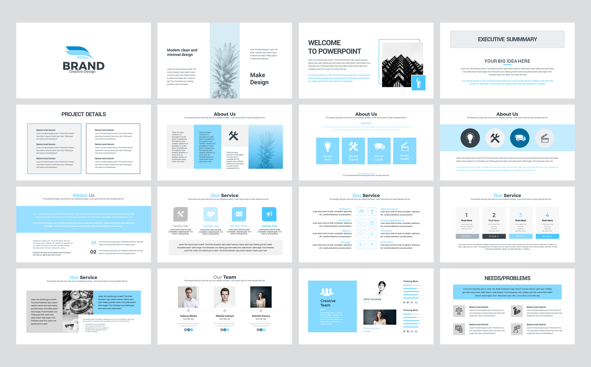Brand - Business Presentation PowerPoint Template