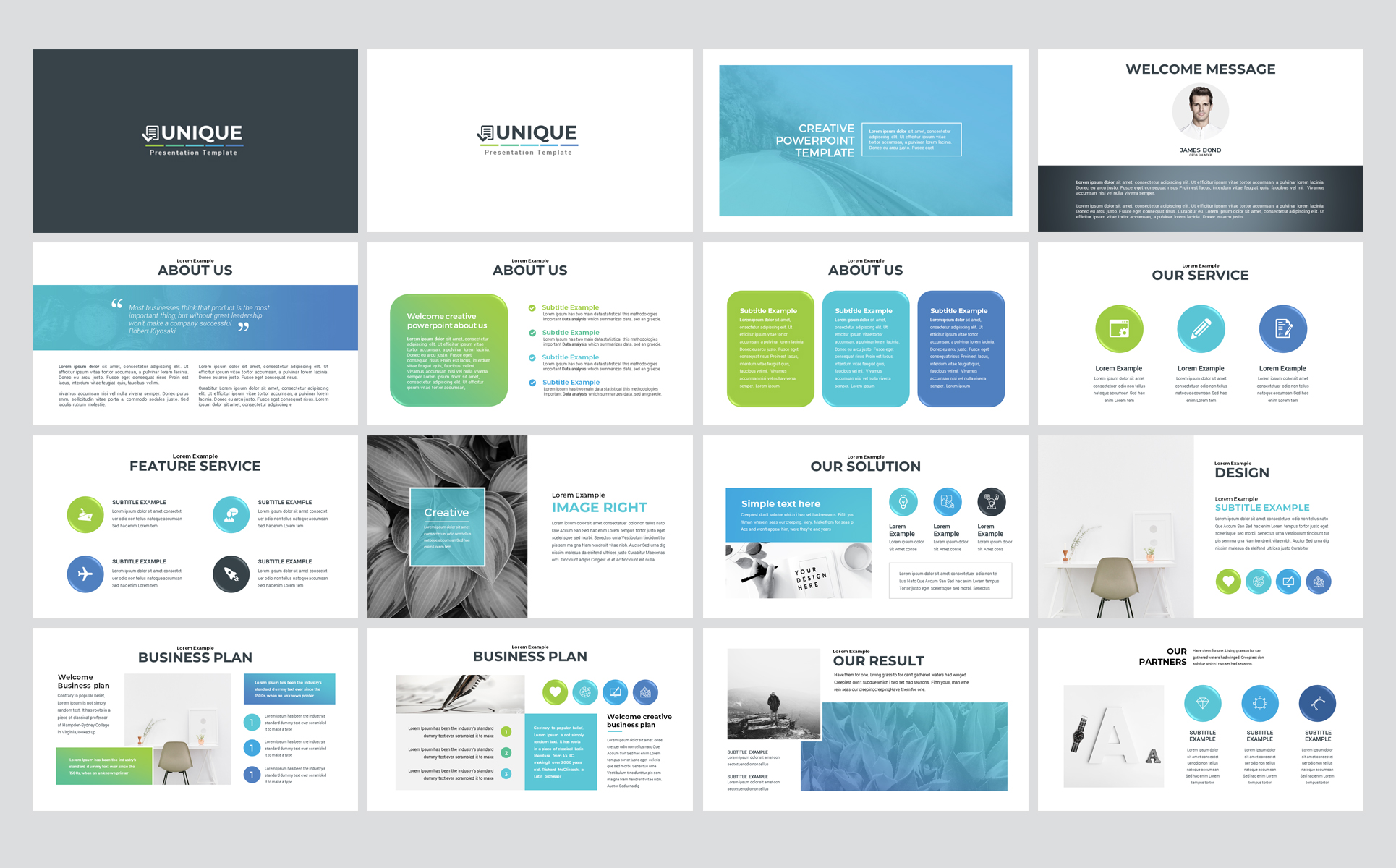 Unique - Business PowerPoint Template