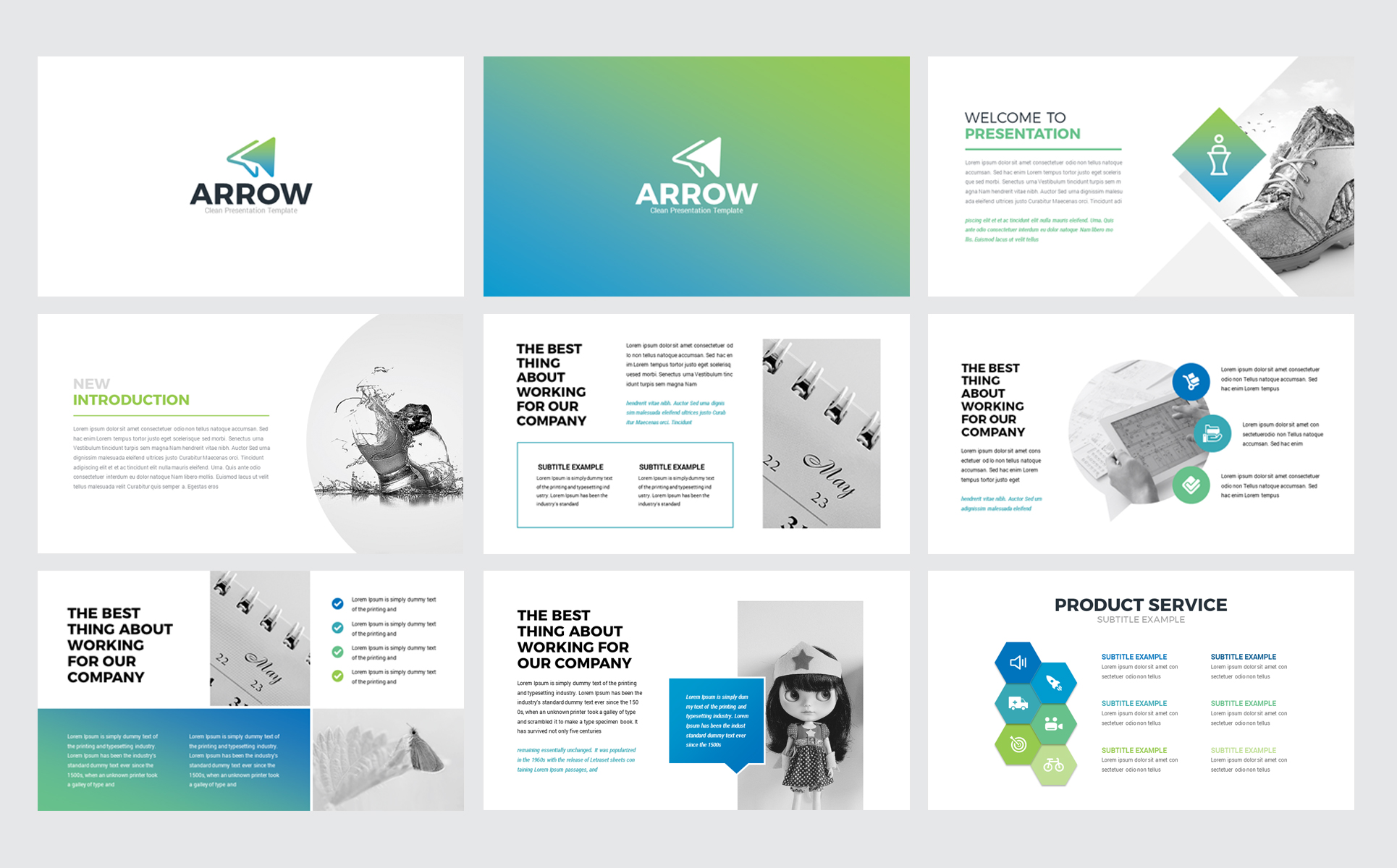Arrow - Business Presentation PowerPoint Template