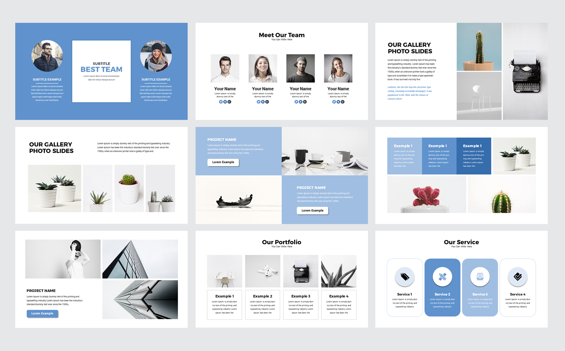 Open Max Business PowerPoint Template