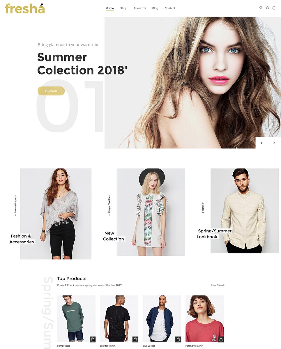 Fresha - Elegant Fashion Shop WooCommerce Theme