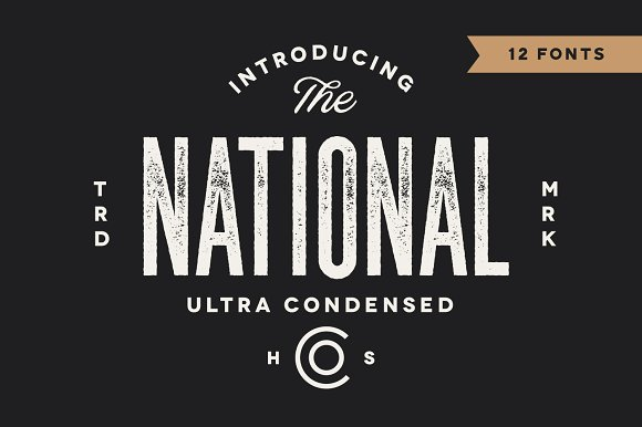 The National - Condensed Family (12) Fonts