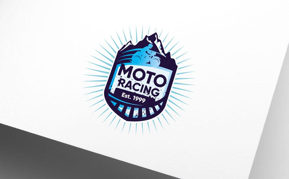 MotoRacing Logo Template