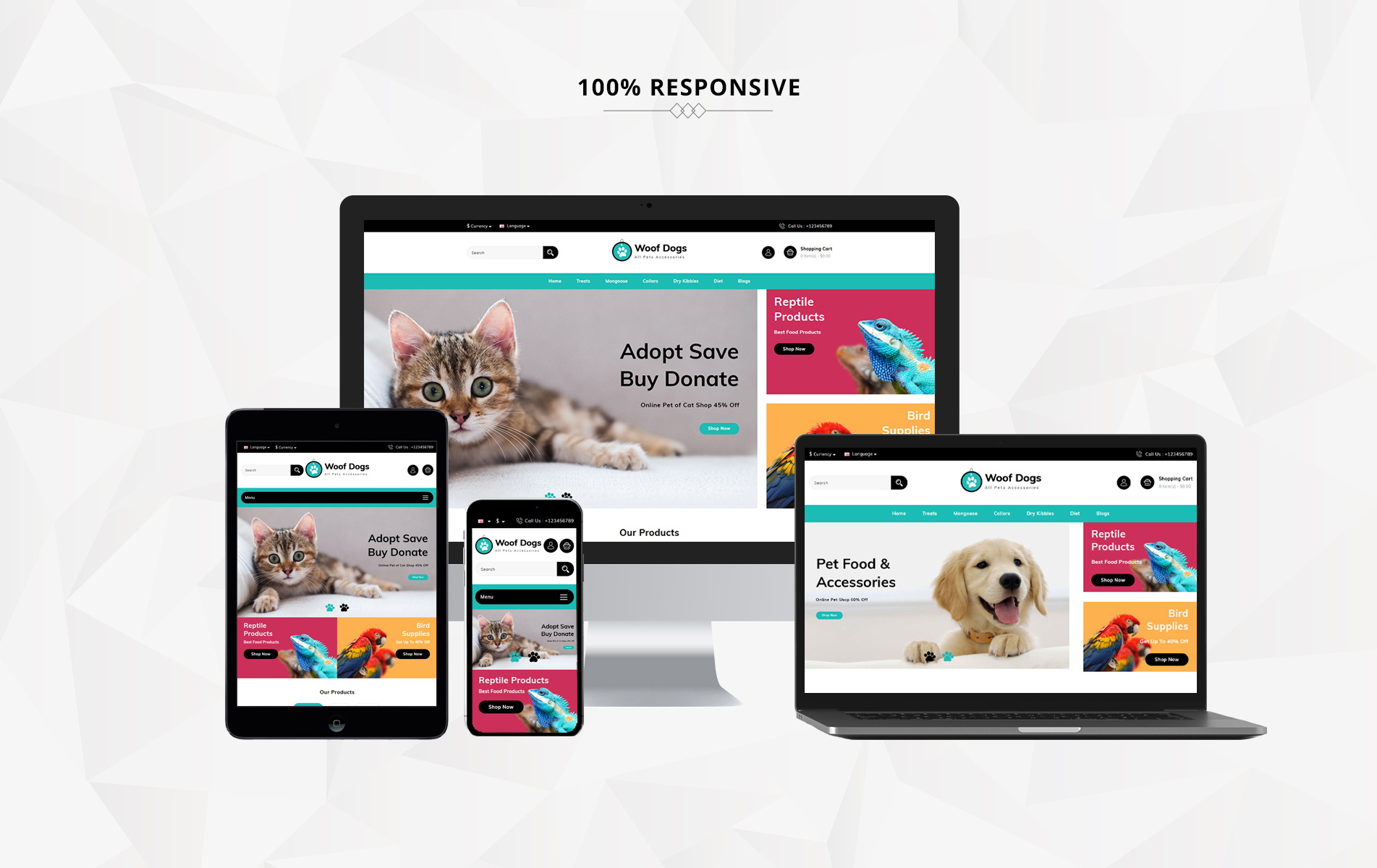 Woofdog Pet Store OpenCart Template