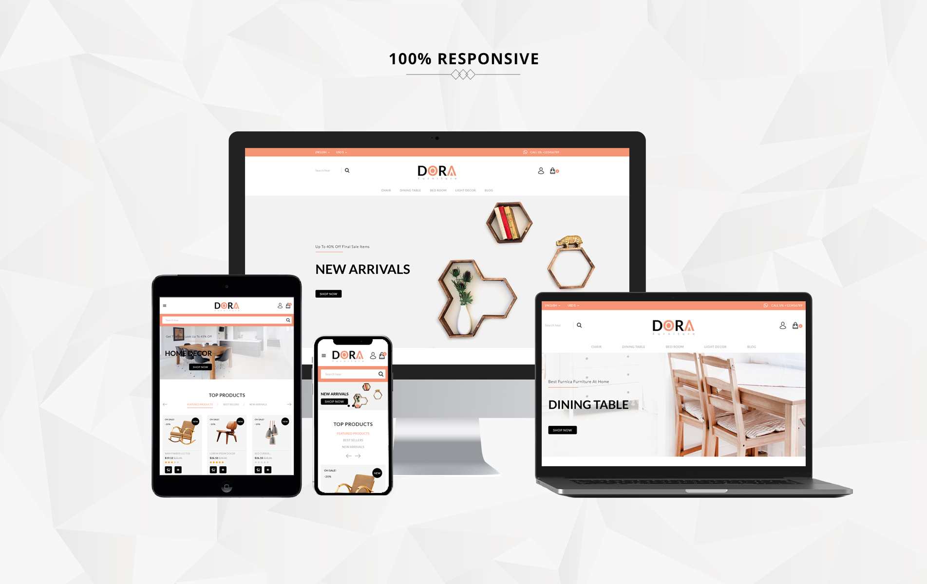 Dora Furniture Shop PrestaShop Theme