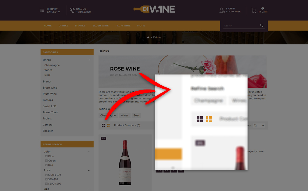 Diwine - Wine Shop OpenCart Template