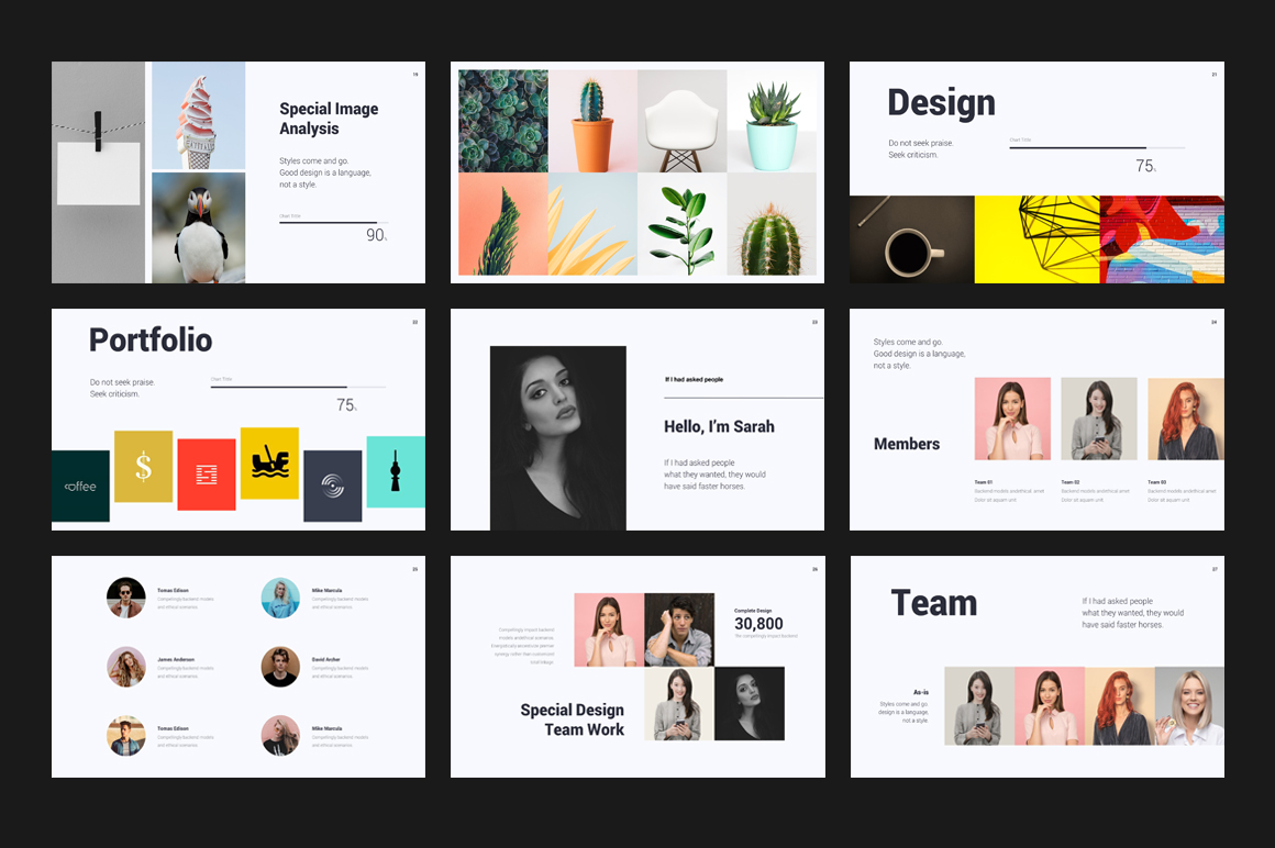 Creative Minimal Presentation PowerPoint Template