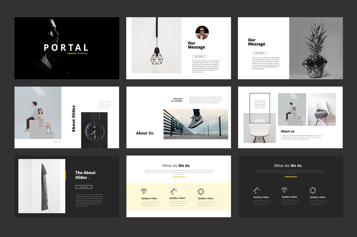 Template 75689 : Portfolio - PowerPoint Template Website