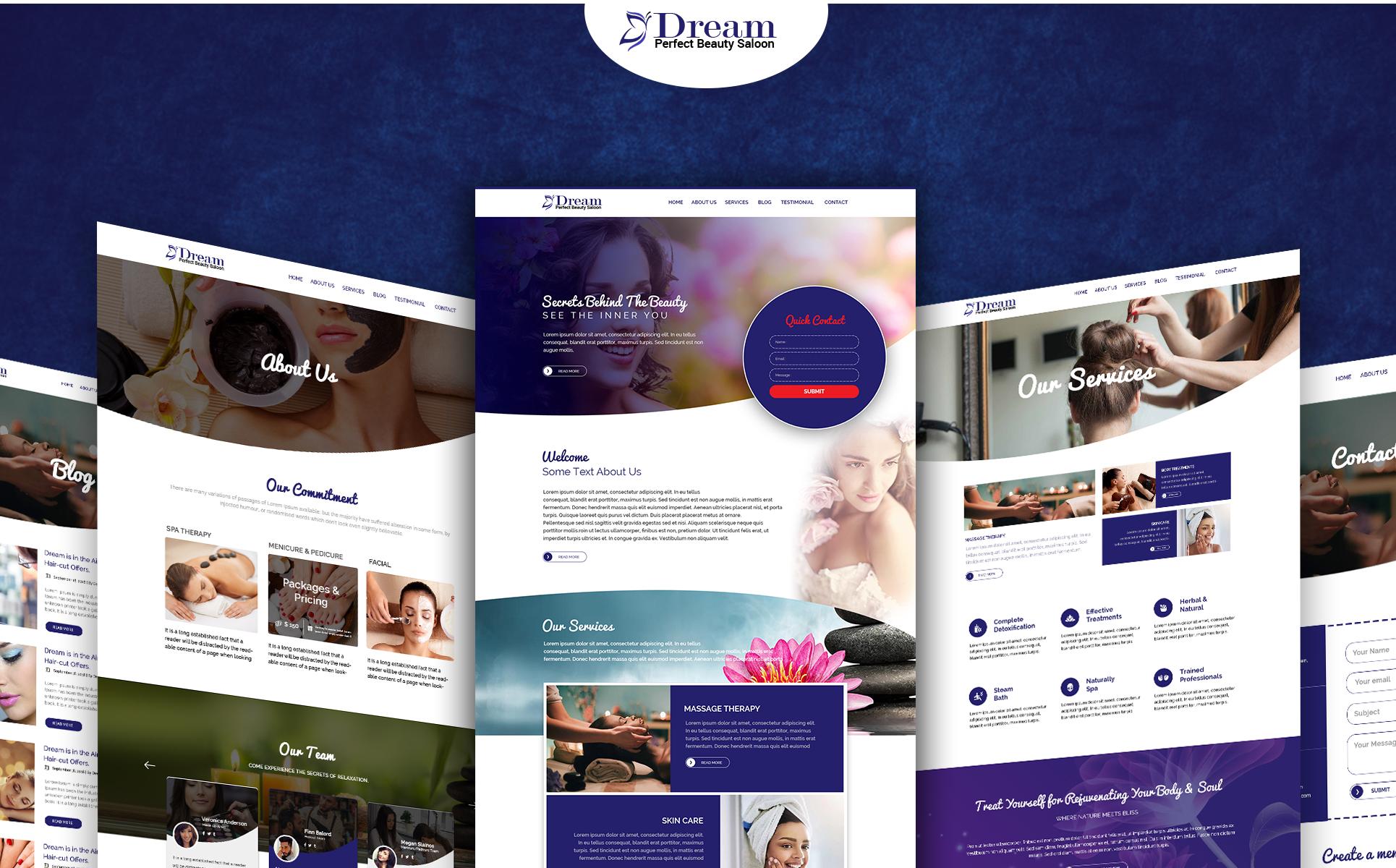 Dream - Multipurpose Beauty PSD Template