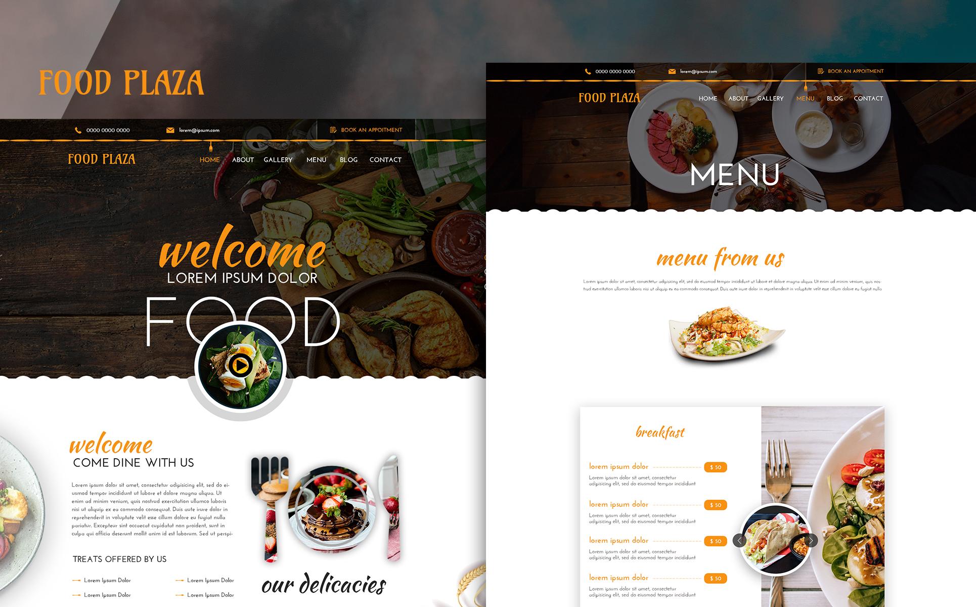 foodPlaza PSD Template