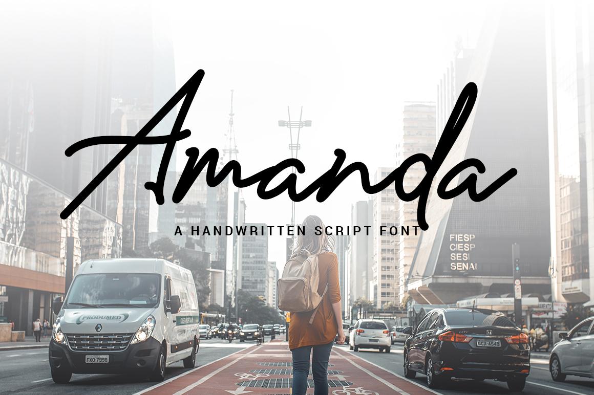Amanda Signature Fonts