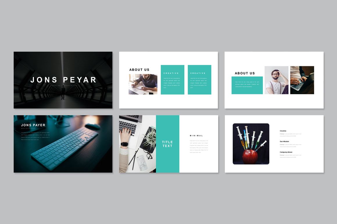 Jones Minimal Presentation PowerPoint Template PowerPoint Template