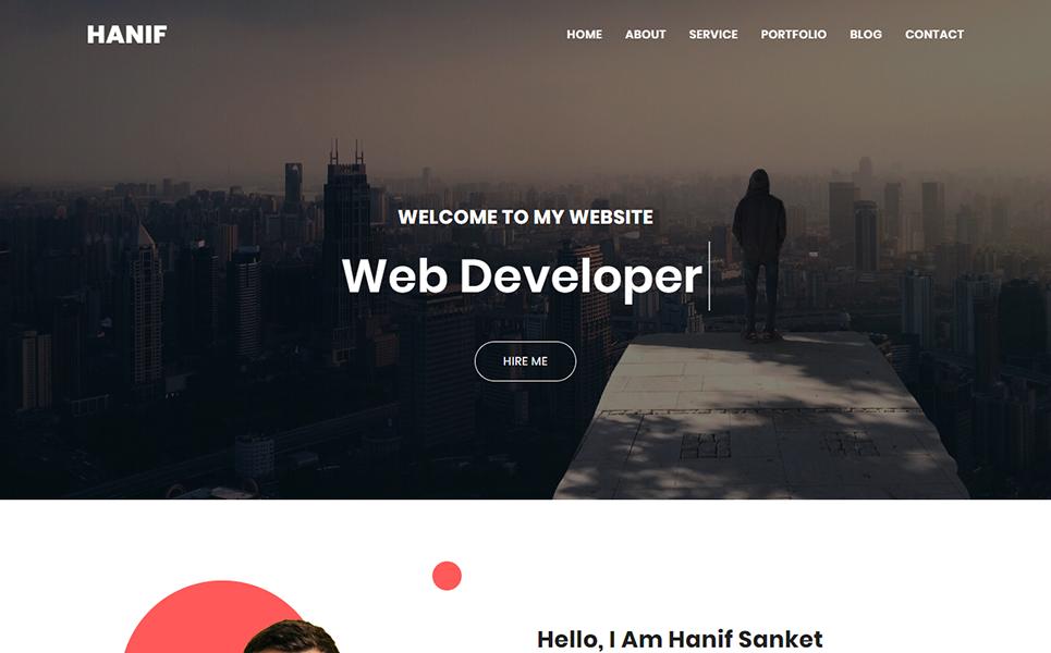 Hanif Personal Portfolio Landing Page Template