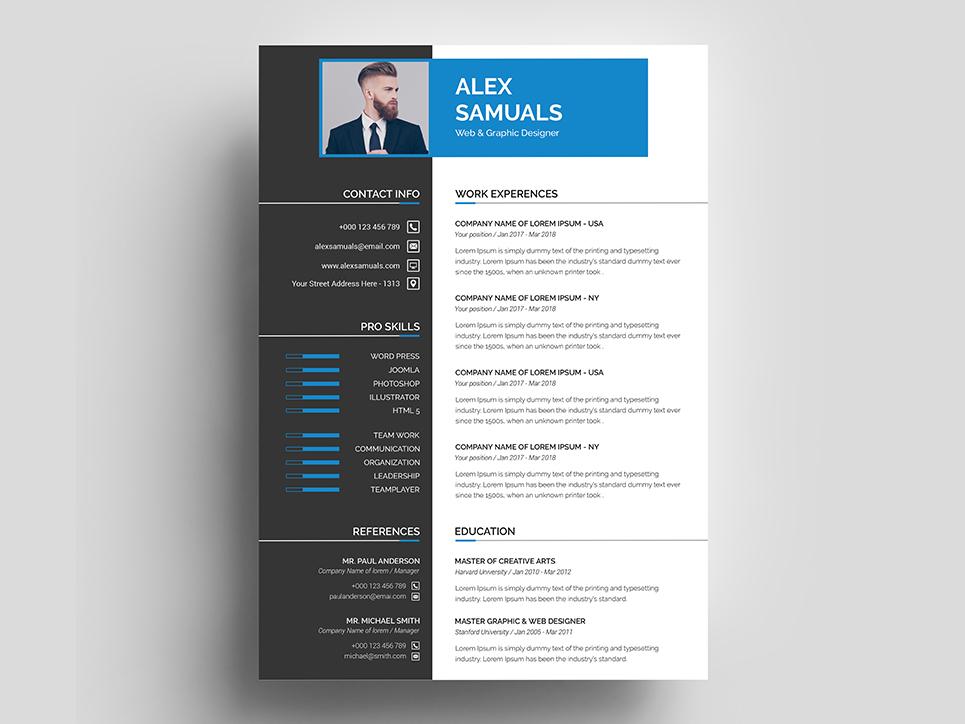 Alex Samuals Resume Template