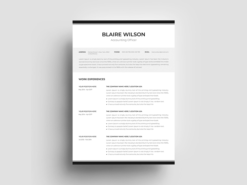 Blaire Wilson Resume Template