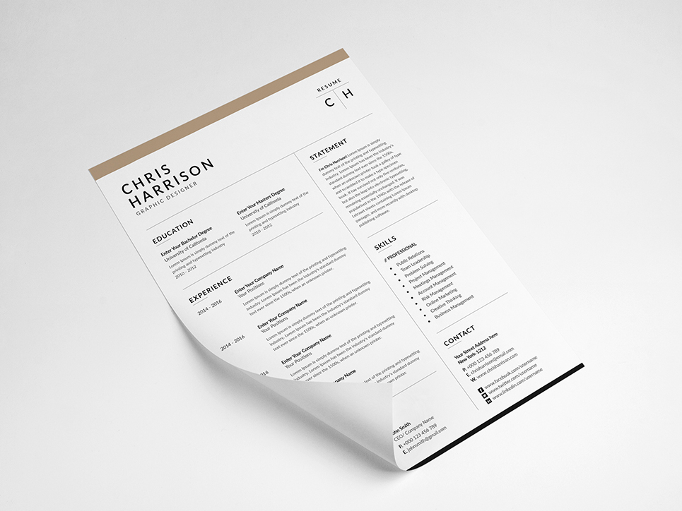 Chris Harrison Resume Template Resume Template