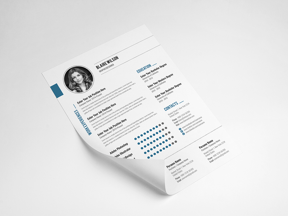 Blaire Wilson Resume Template