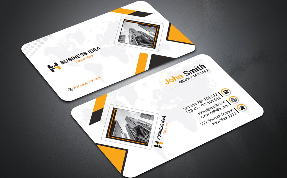 Business Idea Corporate Business Card Corporate Identity