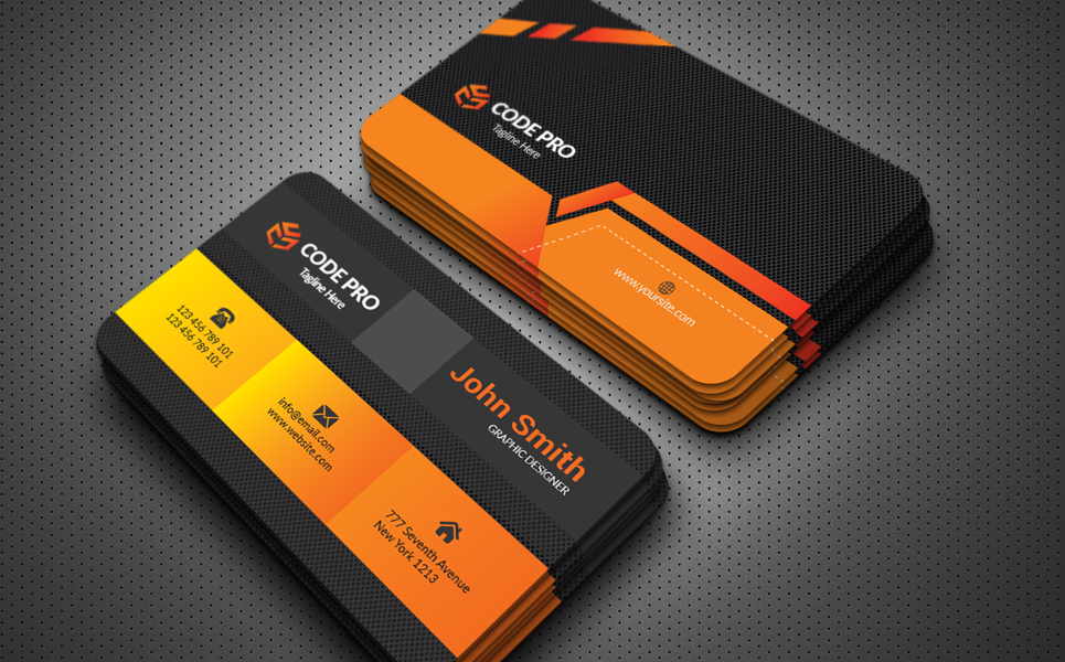Creative Black Business Card Corporate Identity