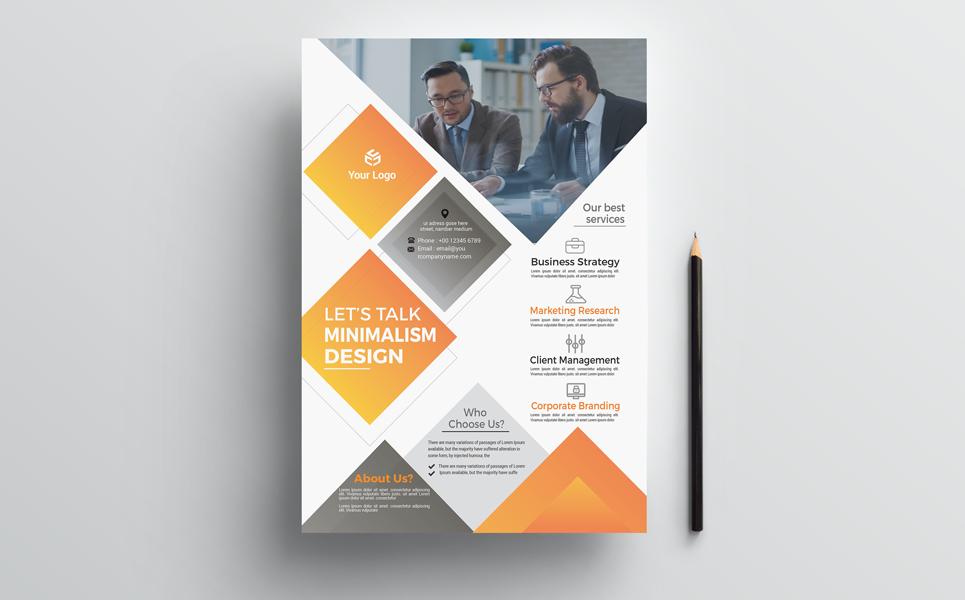 Business Grow Flyer Corporate Identity