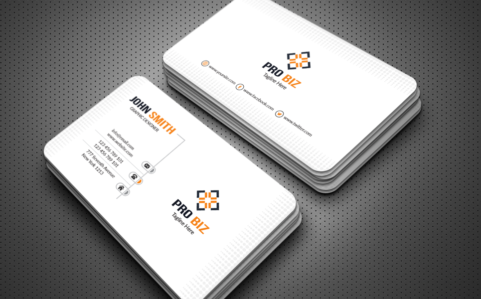 Clean & Clear Business Card Corporate Identity