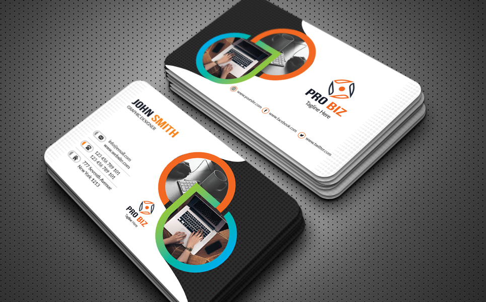 Standard Business Cards Corporate Identity