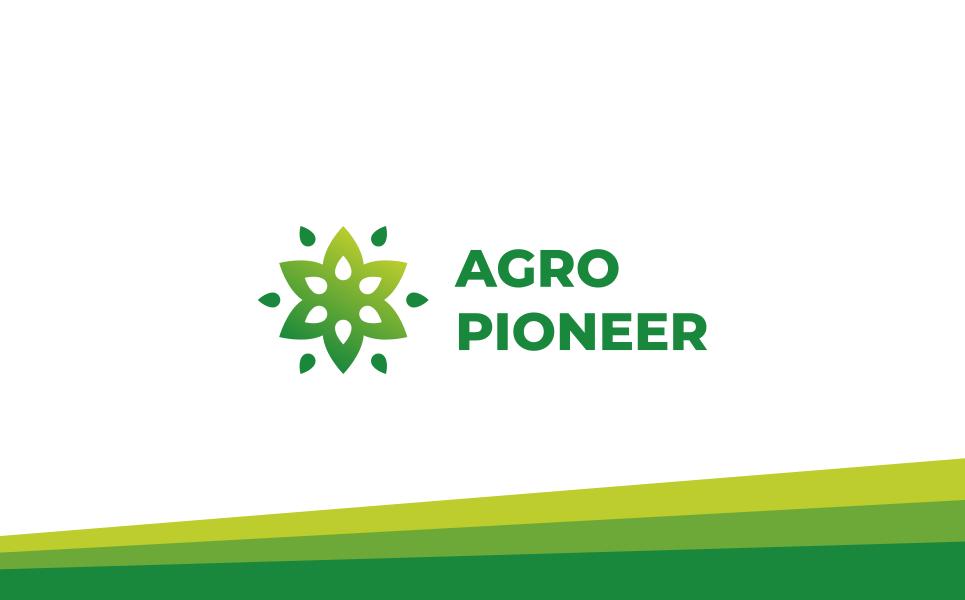 Green Flower Logo Template