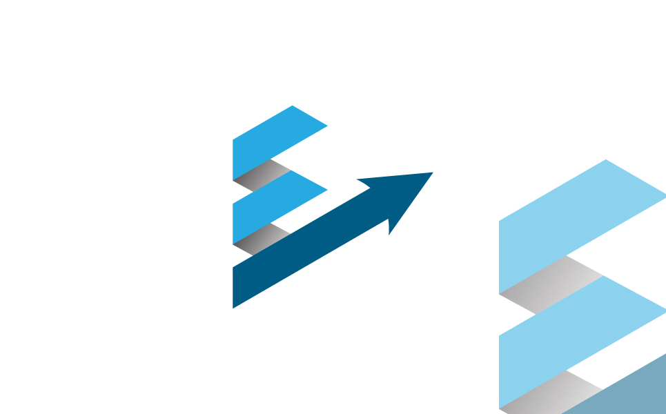 Strip arrow Logo Template