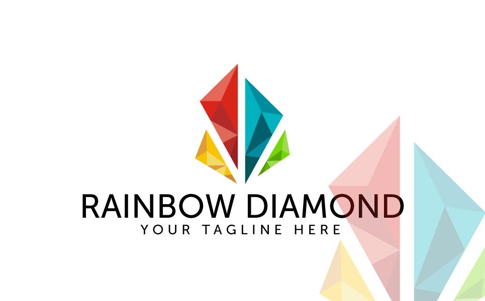 Rainbow Diamond Logo Template