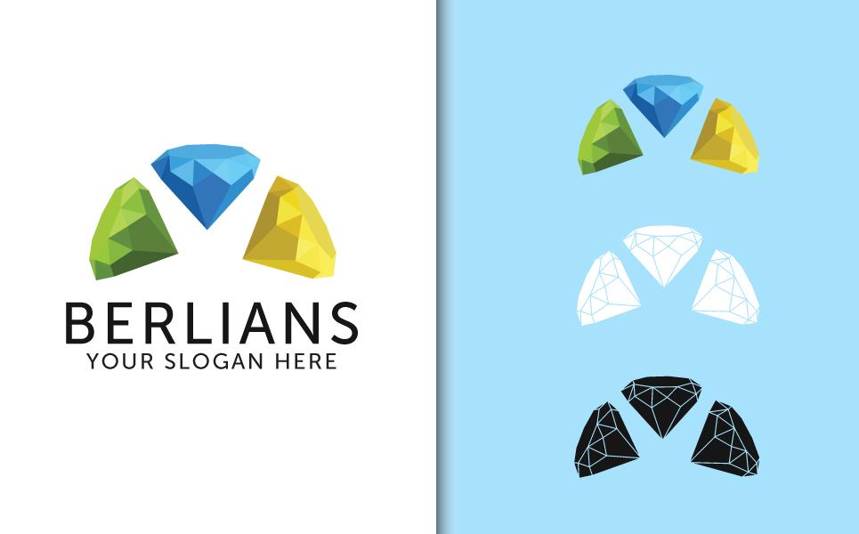 3 Diamonds Logo Template