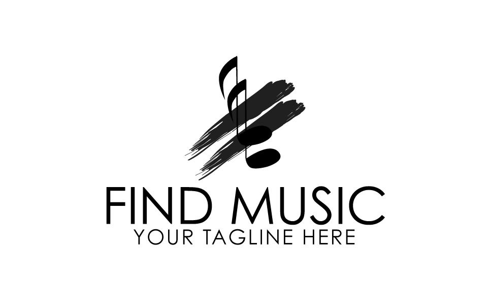 Find Music Logo Template