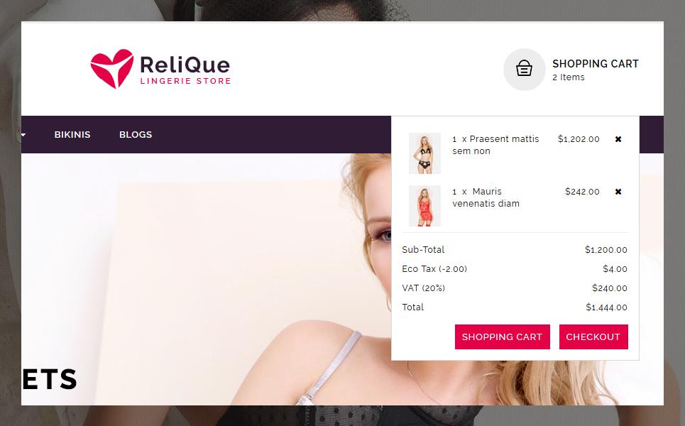 Relique OpenCart Template